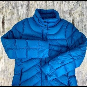 Lands End Woman's Teal Quilted Down Puffer M 10-12